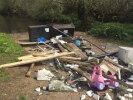 More fly tipping by Thatchers Ford, blocking gate and ford