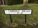 Incorrect signage in Middle Mead